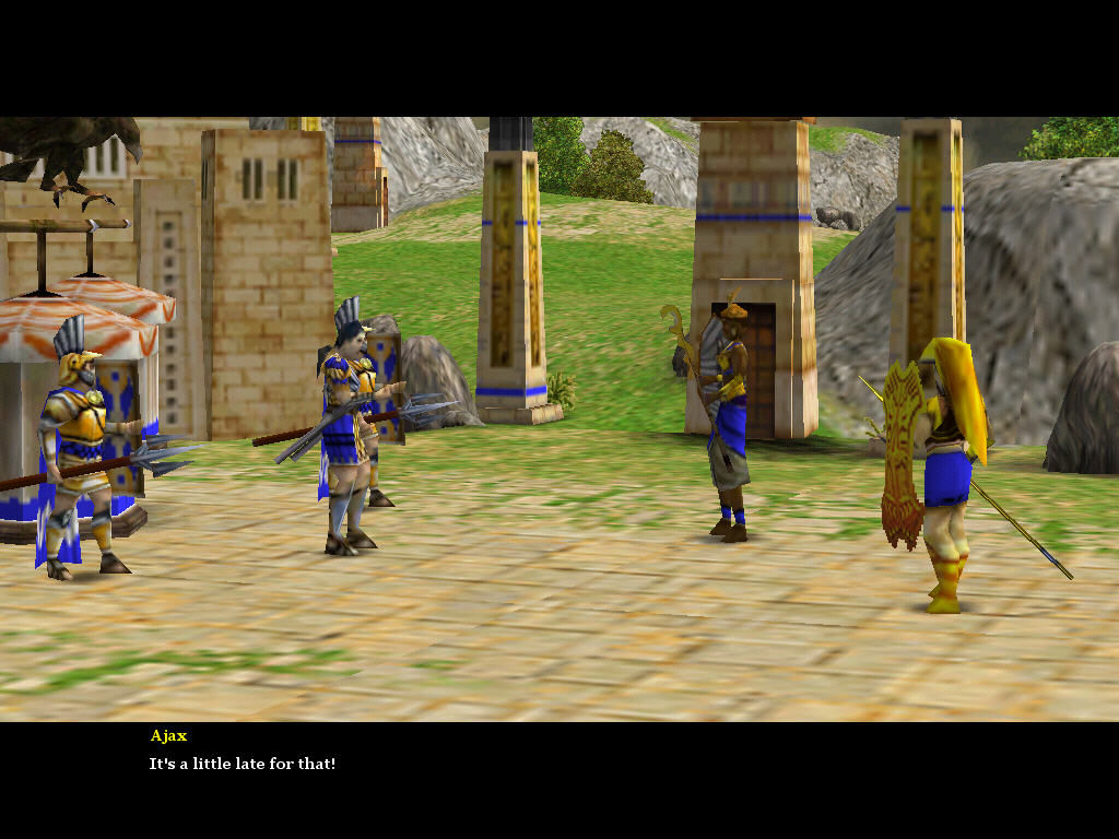 Age of Mythology: The Titans Windows The story is narrated with the help of cut-scenes