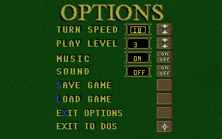 Isle of the Dead DOS Options