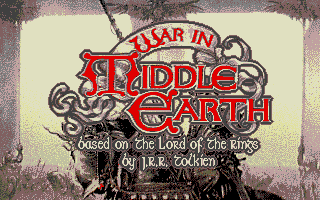 J.R.R. Tolkien's War in Middle Earth Atari ST Title screen