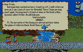 J.R.R. Tolkien's War in Middle Earth Atari ST Letter from Gandalf