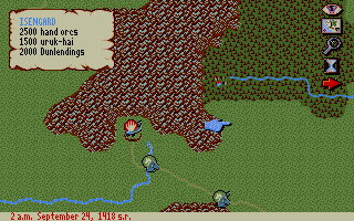 J.R.R. Tolkien's War in Middle Earth Atari ST Saruman army