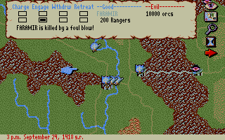 J.R.R. Tolkien's War in Middle Earth Atari ST Battle