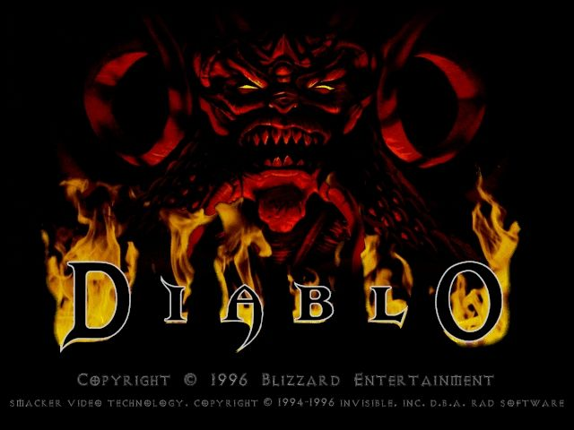 Diablo Windows Title screen