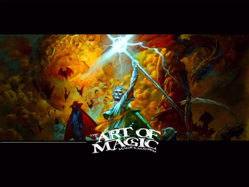 Magic & Mayhem: The Art of Magic Windows Title screen.