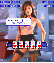 Sexy Poker: Top Models J2ME Two pairs are usually a sure bet.