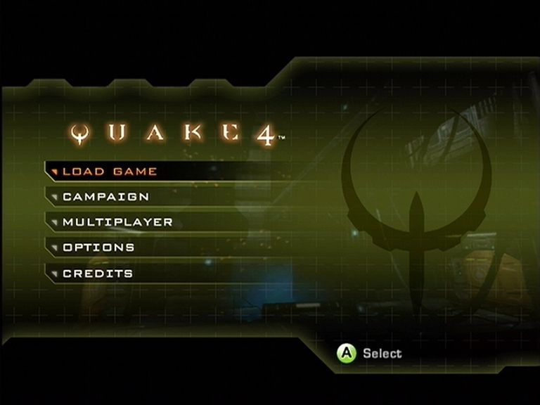 Quake 4 Xbox 360 You can load a game or setup multiplayer from the main menu