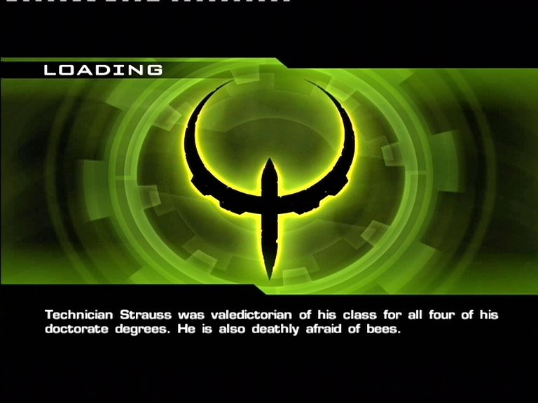 Quake 4 Xbox 360 Loading screens give you info and tips (Not all of them are useful though!)