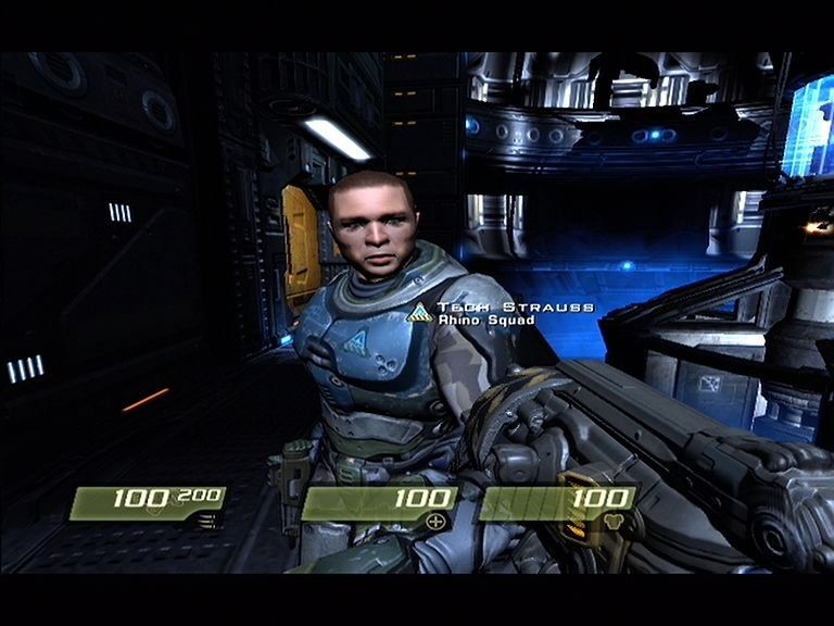 Quake 4 Xbox 360 Marine Technicians can replenish your armor and upgrade your weapons