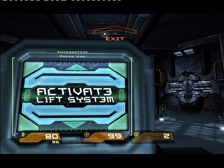 Quake 4 Xbox 360 Control panels are used to activate lifts, open doors, and many other things.