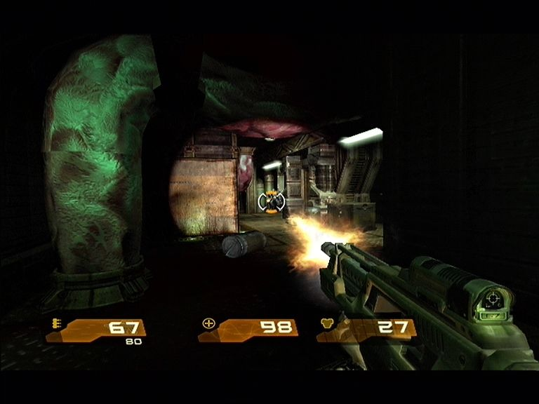 Quake 4 Xbox 360 The Machine Gun also comes equipped with a mounted torch!