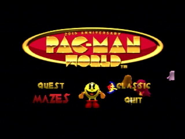 Pac-Man World PlayStation Main menu