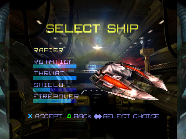 Asteroids PlayStation The Rapier