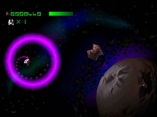 Asteroids PlayStation A special attack that results in a circle of spreading shots.