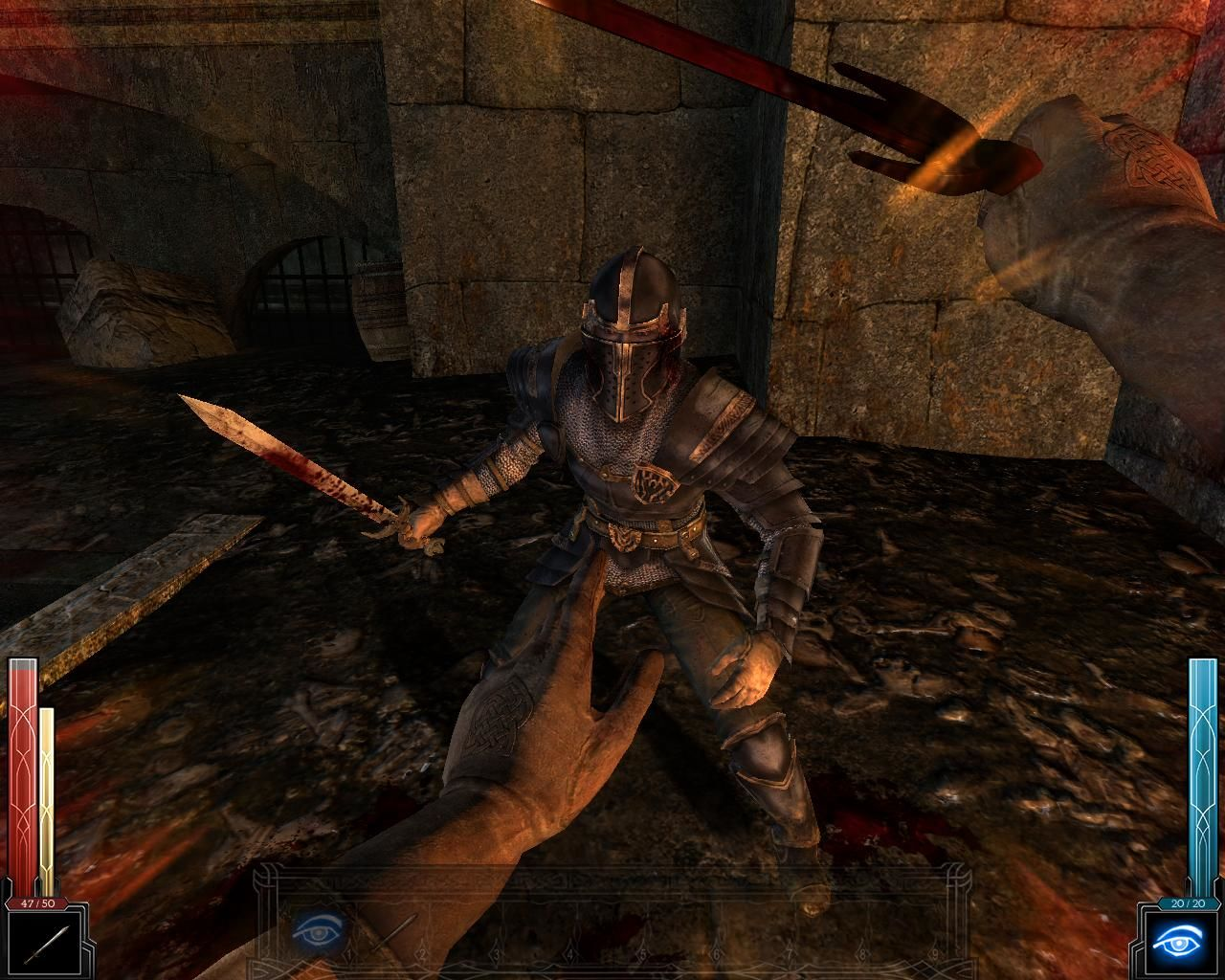 Dark Messiah: Might and Magic Windows When your adrenaline (yellow bar) is full, deliver a Power Attack to make a Fatality.