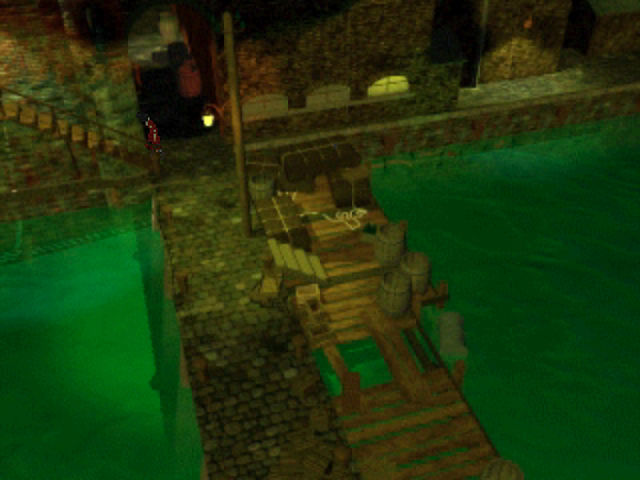 The City of Lost Children PlayStation The entire town is surrounded by sickly-green sea.