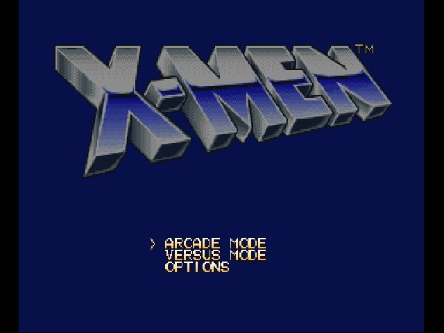 X-Men: Children of the Atom PlayStation Title screen