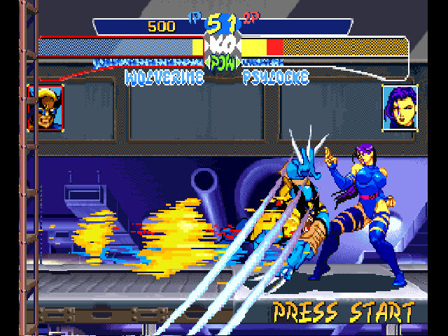X-Men: Children of the Atom PlayStation Berzerker Barrage!