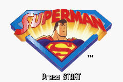 Superman: Countdown to Apokolips Game Boy Advance Title screen