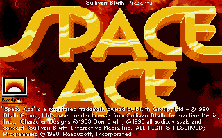 Space Ace DOS Title screen (VGA)