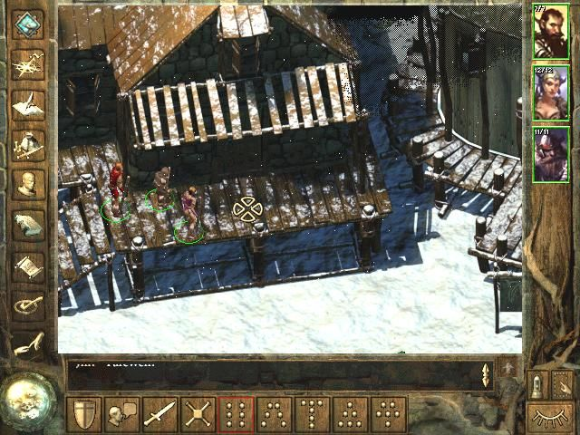 Icewind Dale Windows The game begins in Easthaven. It's snowing, how beautiful!