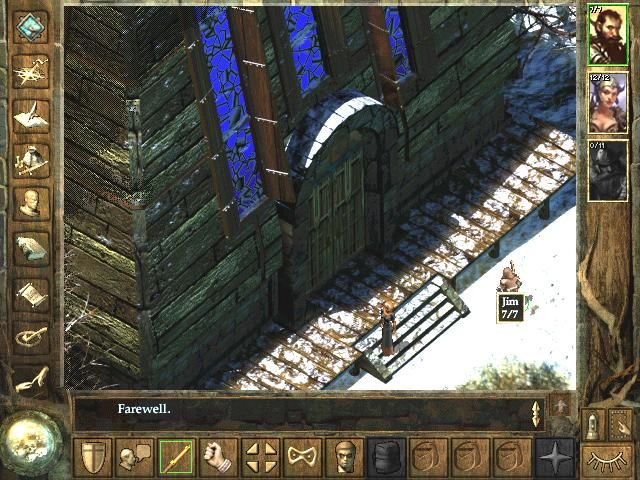 Icewind Dale Windows Outside the temple