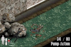 Max Payne Game Boy Advance Shooting some bad guys at the sewers
