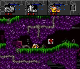 Norse by Norse West: The Return of the Lost Vikings SNES Olaf can also shrink himself and get through small passages.