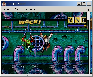 """Comix Zone Windows You literally can """"see"""" the sound effects."""