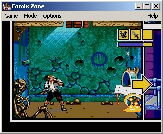 Comix Zone Windows Using dynamite to open way to a new frame.