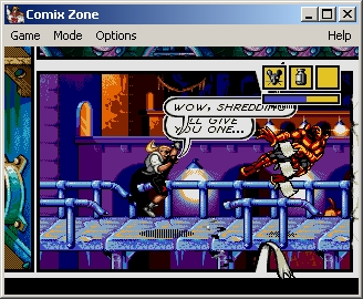 Comix Zone Windows Throwing an enemy ends up destroying the frames' division.