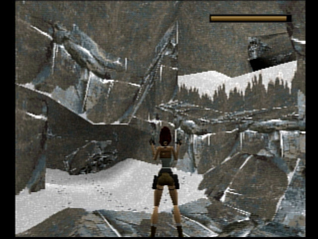 Tomb Raider PlayStation A rocky area