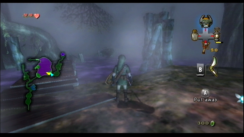 The Legend of Zelda: Twilight Princess Wii Trouble arrives; don't touch that deadly purple fog...