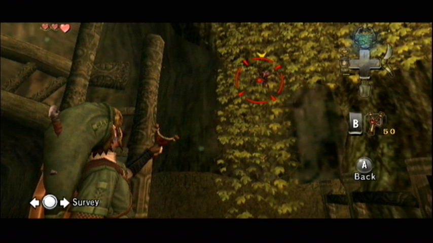 The Legend of Zelda: Twilight Princess Wii Point the Wii remote at the screen to aim.