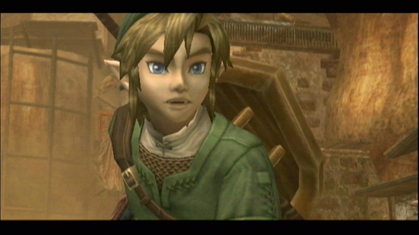 The Legend of Zelda: Twilight Princess Wii Uh oh, trouble coming! (Link during a cutscene)