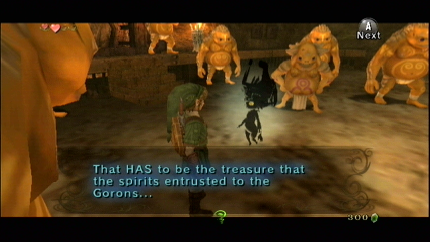 The Legend of Zelda: Twilight Princess Wii Visiting the Goron mines...