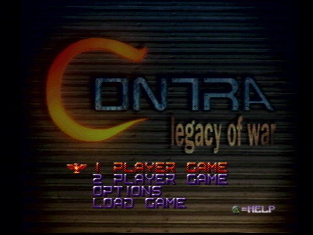 Contra: Legacy of War PlayStation Main menu