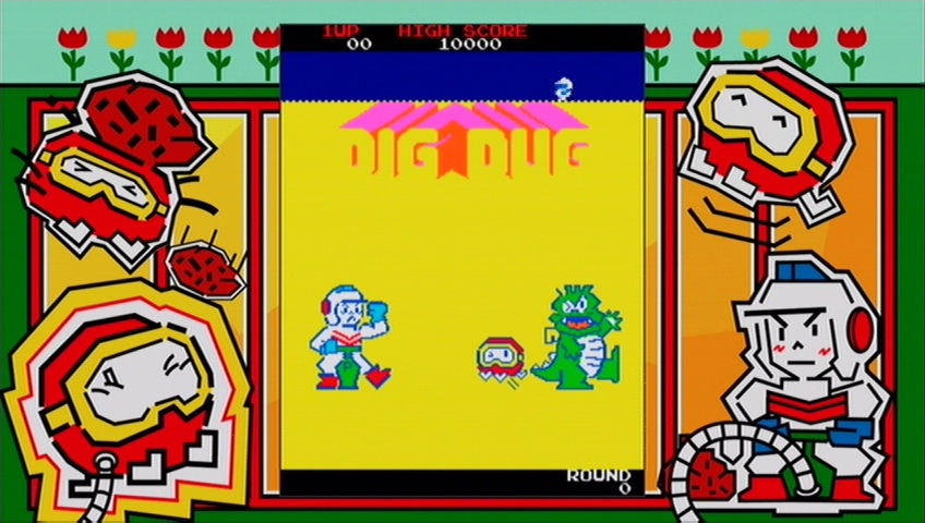 Dig Dug Xbox 360 Arcade game's title screen