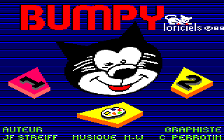 Bumpy Amstrad CPC Title screen