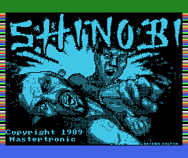 Shinobi MSX Loading screen