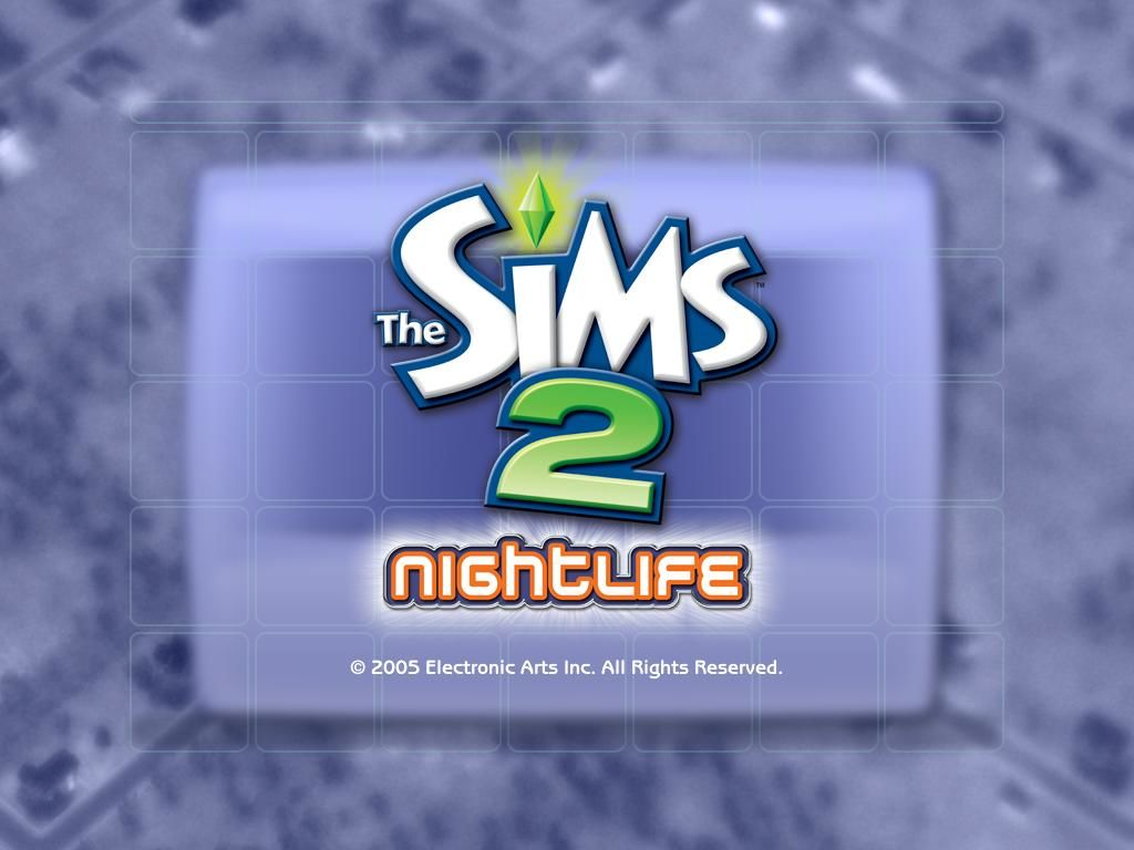 The Sims 2: Nightlife Windows Title screen