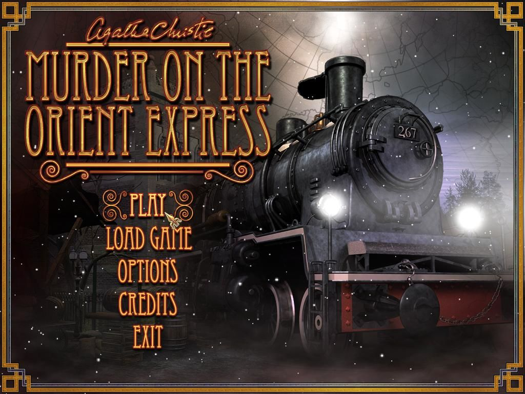 Agatha Christie: Murder on the Orient Express Windows Main menu