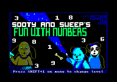 Sooty's Fun With Numbers Amstrad CPC Loading screen