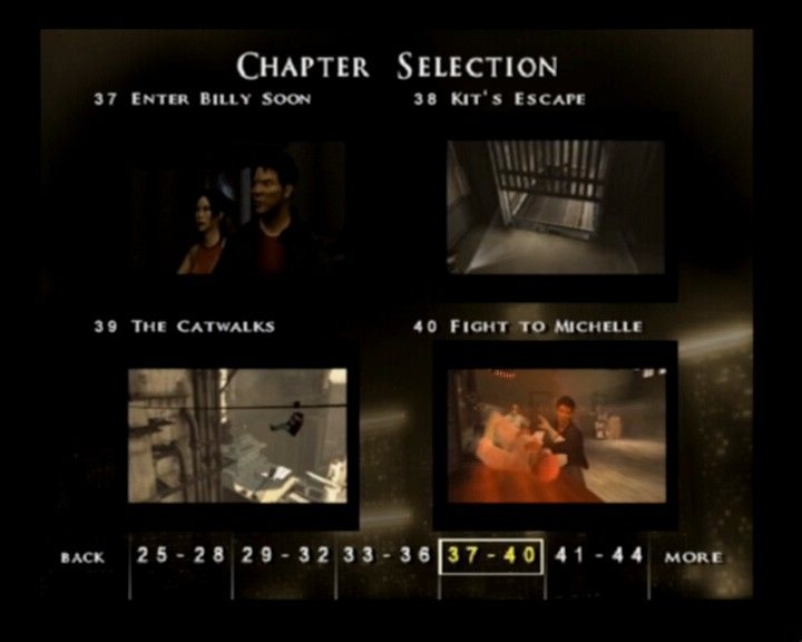 Rise to Honor PlayStation 2 Chapter selection