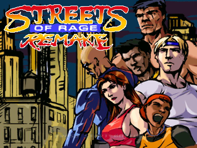 Streets of Rage Remake Windows Title screen (2006 version)