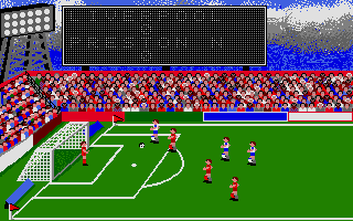 Football Manager Atari ST He's through on goal