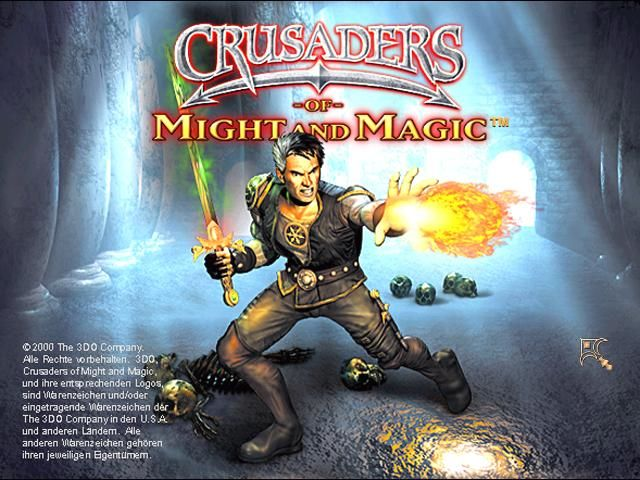 Crusaders of Might and Magic Windows Title screen