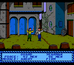 Sid Meier's Pirates! NES Fighting the guard's captain.