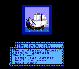 Sid Meier's Pirates! NES What shall we do with this Galleon?