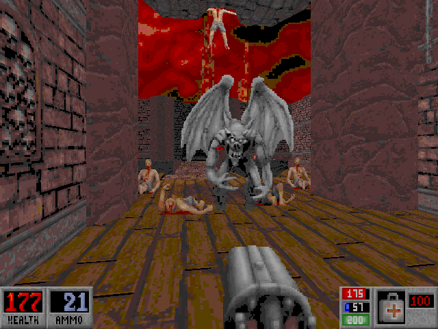 Blood DOS Stone gargoyles are worthy foes