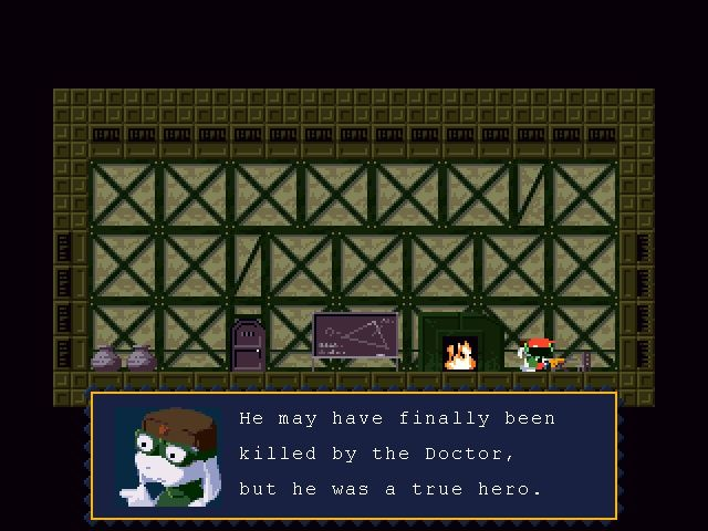 Cave Story Windows Strong story, good characters and moral dilemmas are part of the game.